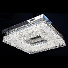 FANTASTIC LED FLUSH CHROME PENDANT SQUARE