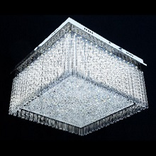 FANTASTIC LED FLUSH CHROME PENDANT SQUARE