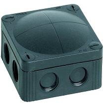 Wiska 10060581 Box 308/LEER Black (IP67 32A L:85x W:85x D:51mm)