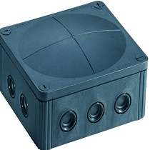 Wiska 10101460 Empty Junction Box Black