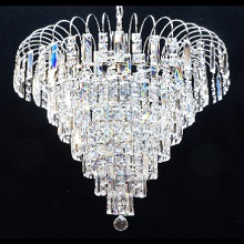 Bocelli Chrome Shower. Full Lead Crystal Lozenges & Squares with G9 LED