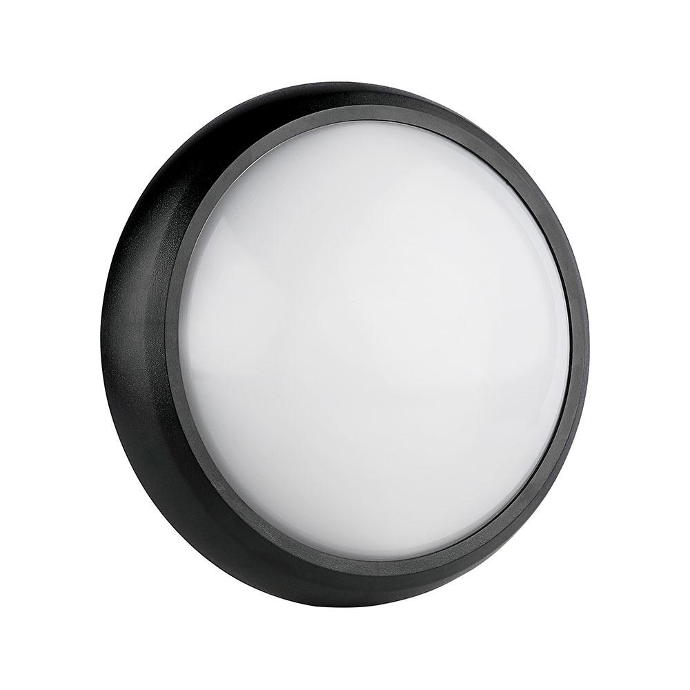 V-TAC 1261 - VT-8014 8W FULL ROUND IP54 DOME LIGHTS 3000K BLACK BODY