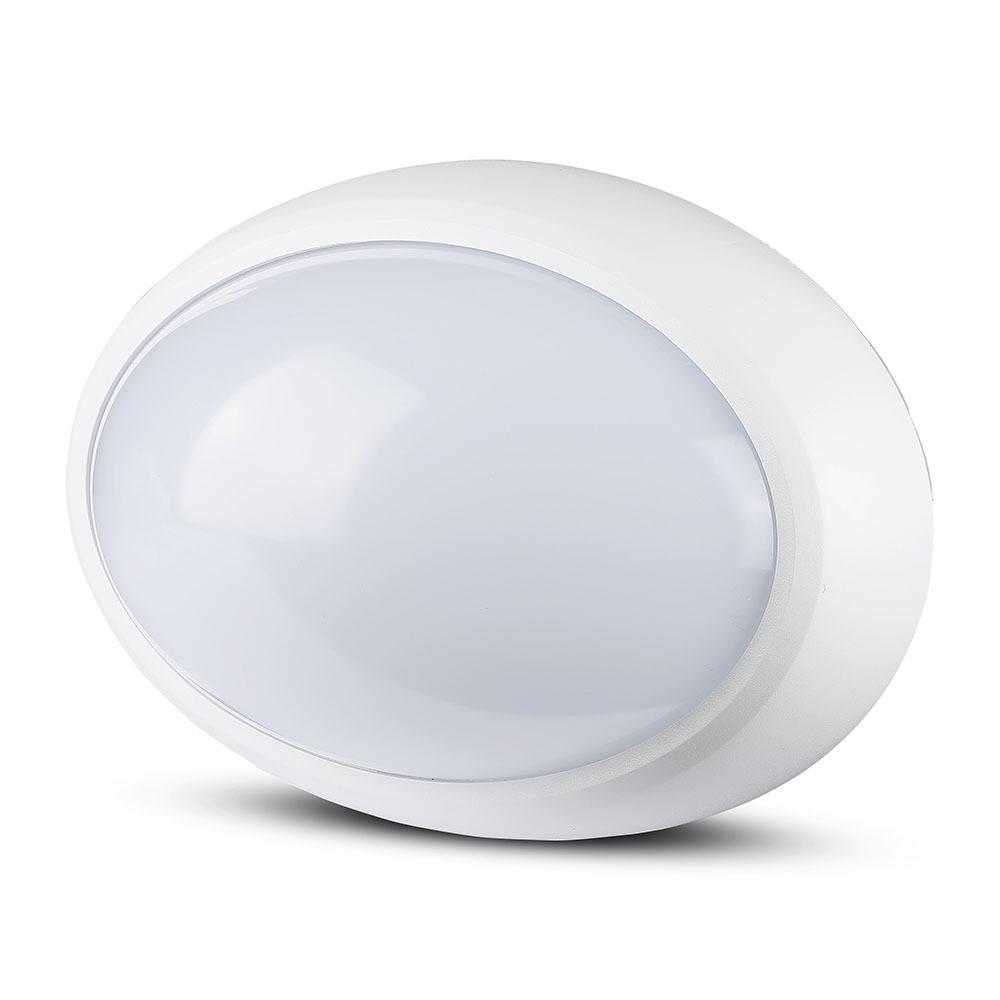 V-TAC 1351 - VT-8010 12W FULL OVAL IP54 DOME LIGHTS 3000K WHITE BODY
