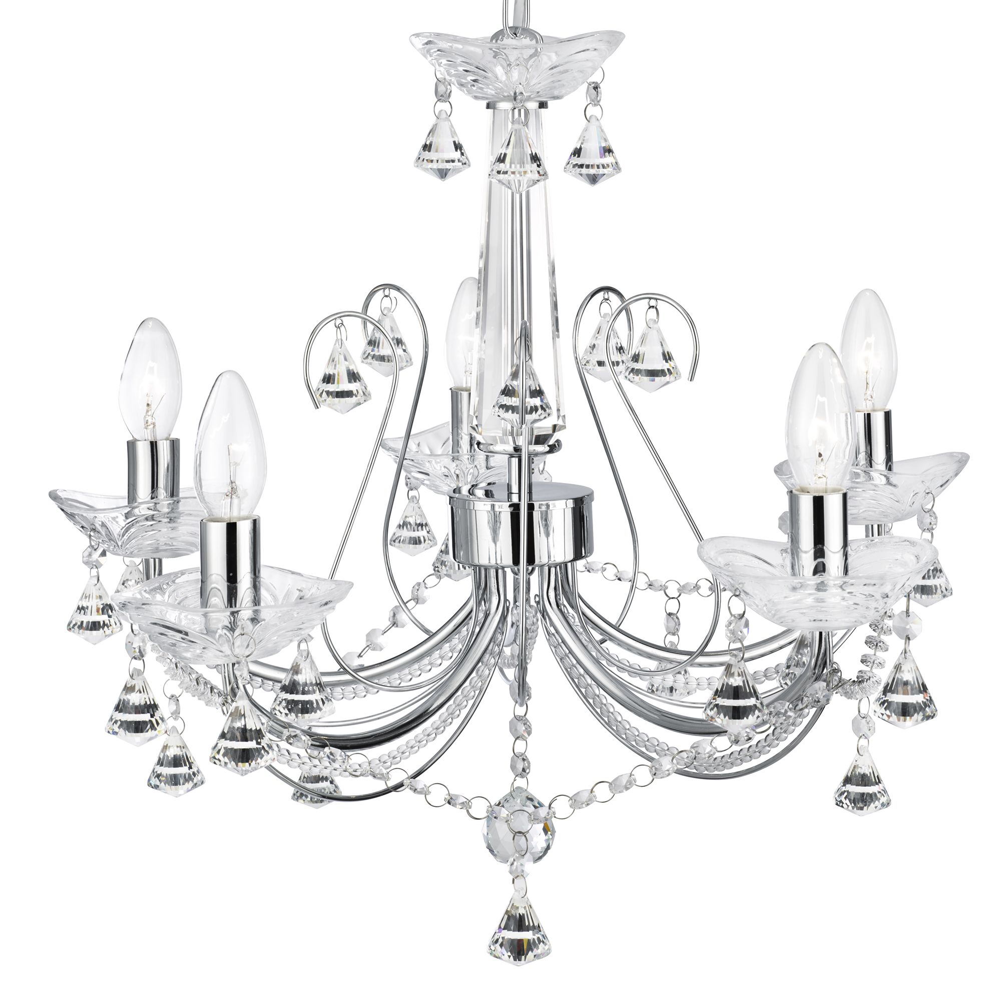 Searchlight 1395-5CC Chandelier 5x40W