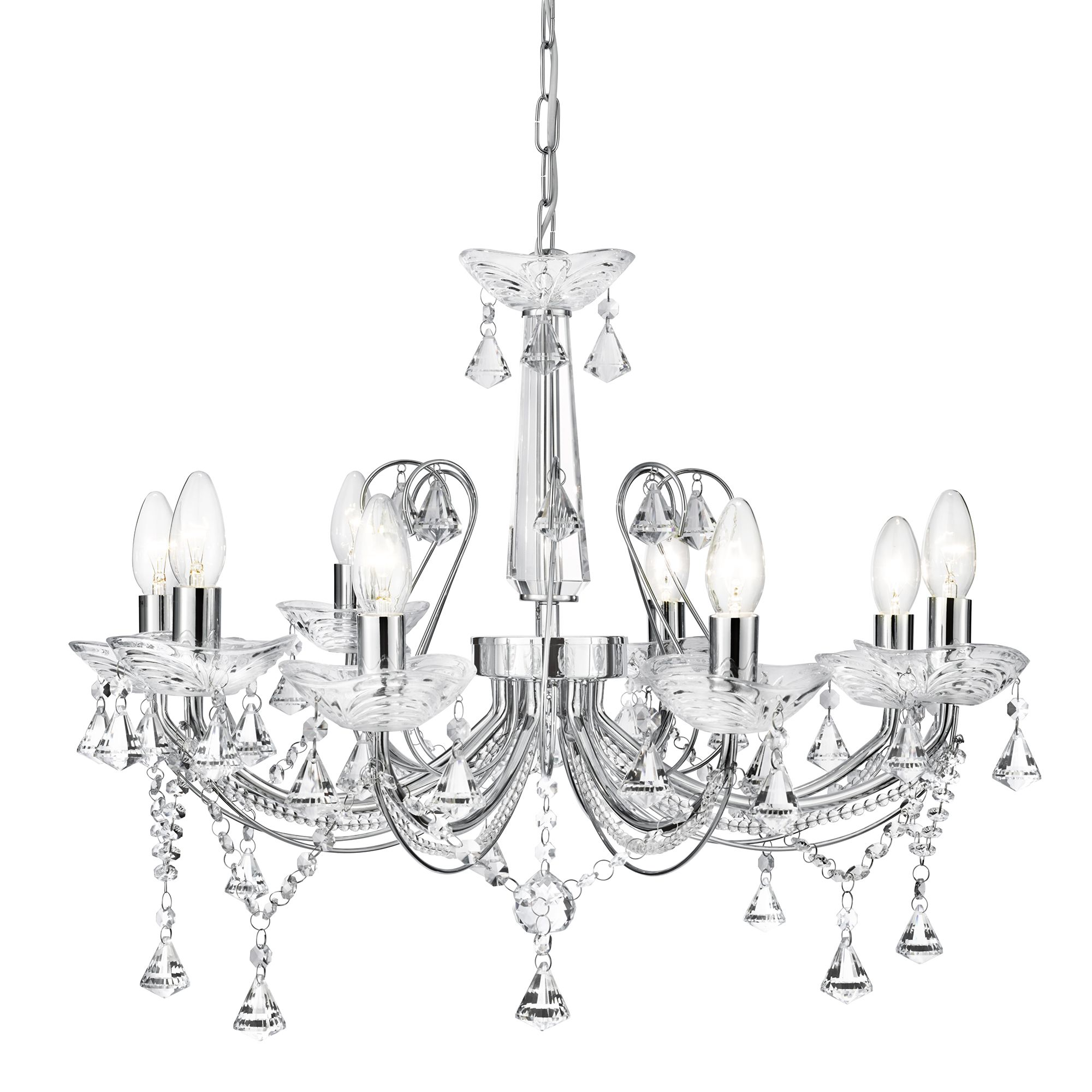 Searchlight 1398-8CC Chandelier 8x40W