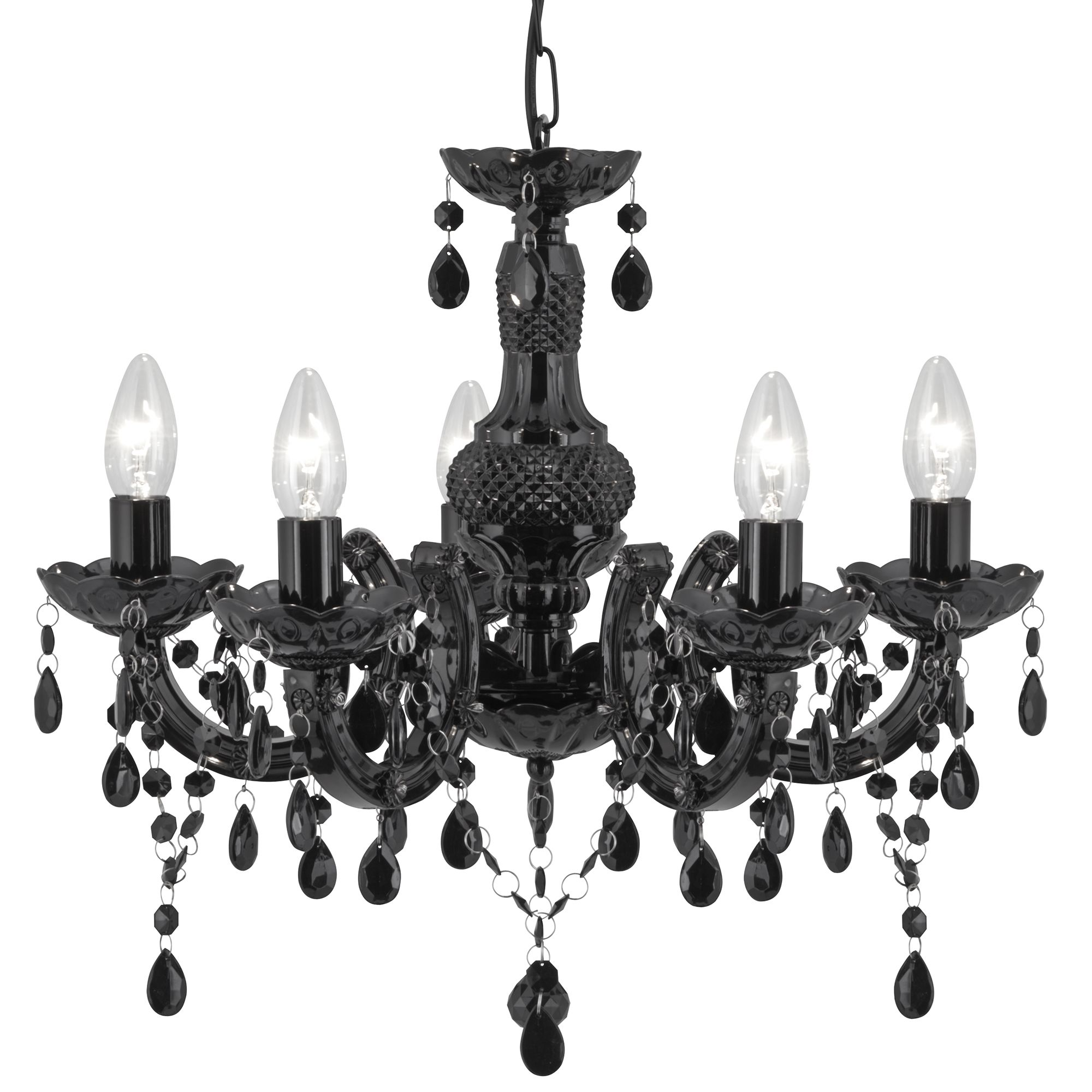 Searchlight 1455-5BK Chandelier 5x60W