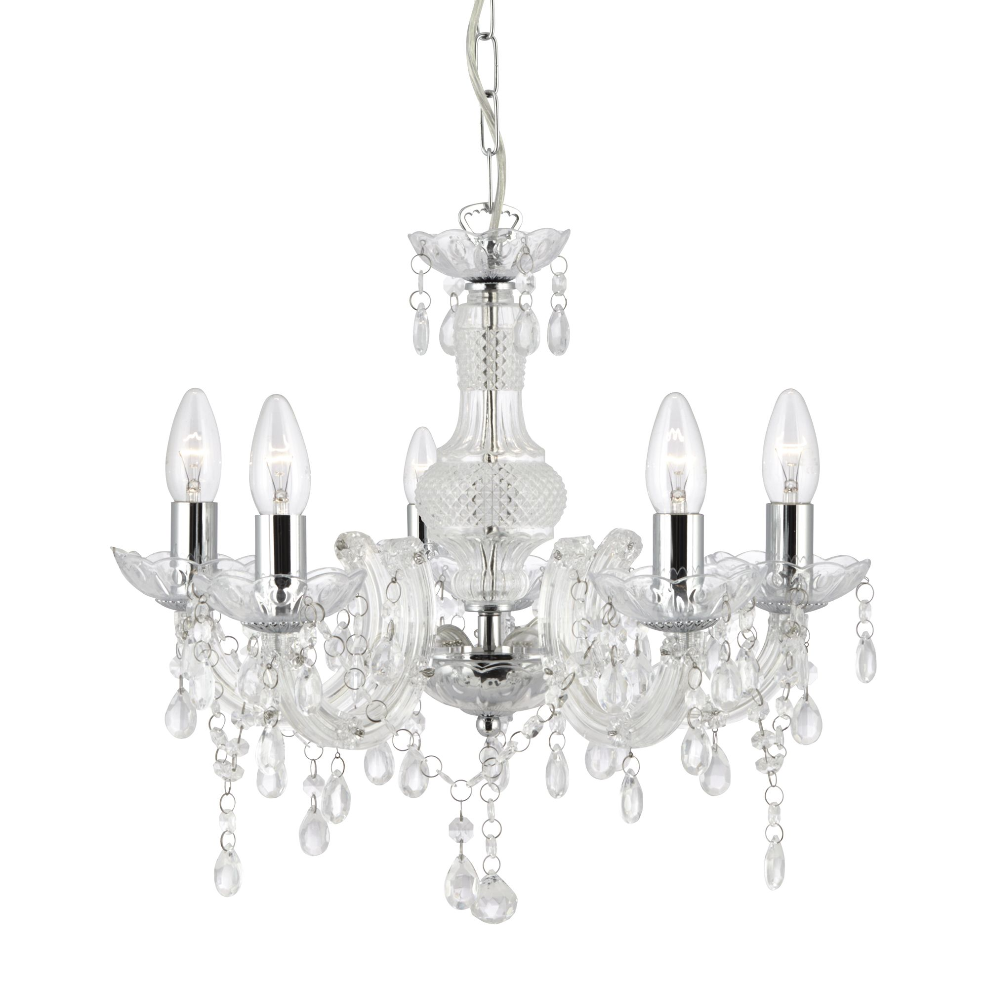 Searchlight 1455-5CL Chandelier 5x60W