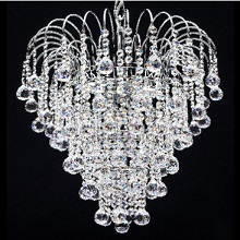 Venus  Chrome Shower. Full Lead Crystal Balls & Buttons.  G9 LED