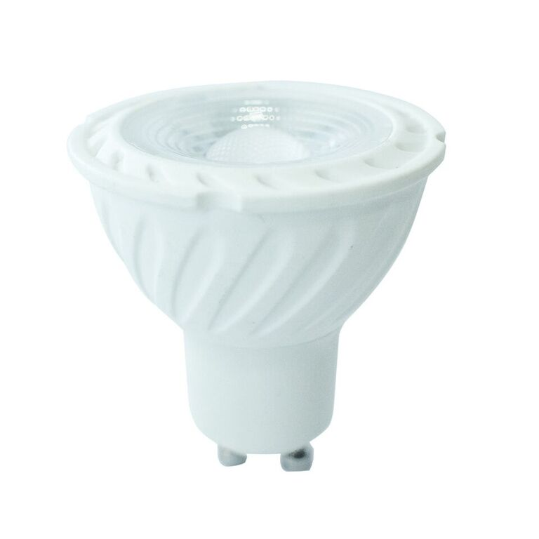 V-TAC LED Spotlight SAMSUNG CHIP - GU10 7W Plastic SMD with Lens 3000K
