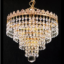 3 Tier Chandelier  with Full Lead Crystal Trimmings