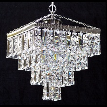 Tempo  4  Tier Square Pendant  with Full Lead Crystal Squares & Lozenge