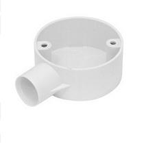 25mm PVC Conduit Box 1 Way White