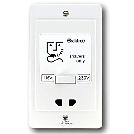 Crabtree Dual Voltage 230V/115V Shaver Socket