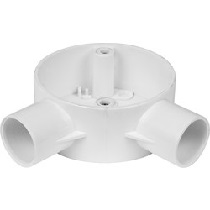 25mm PVC Conduit Box Angle Box White