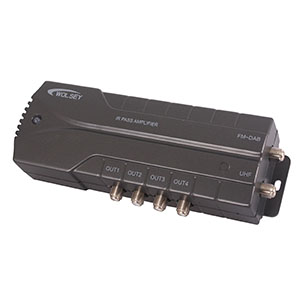 Triax LTE RF Distribution Amplifier with IR Passthrough [2 in; 4 out]