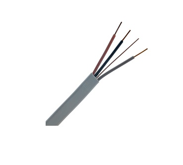 Flat PVC Twin & Earth Cable 3-Core 1.0mm²