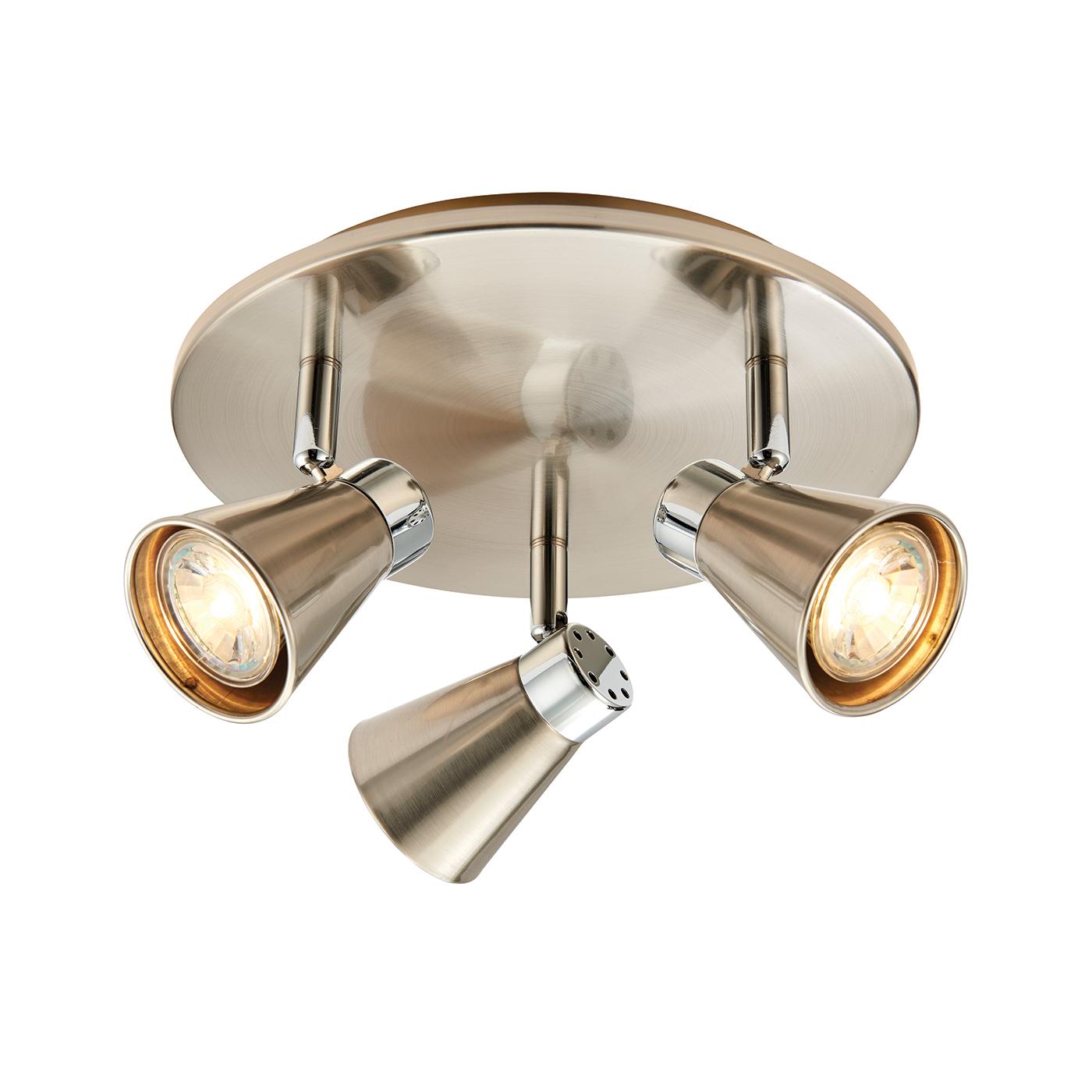 Endon 59941 Tri Spot LED GU10 3.5W 2W