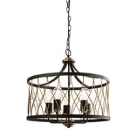 Endon 61498 Heston Pendant 5x60W Blk