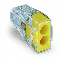 Wago Push Wire Connector 2 way - Yellow (x50)