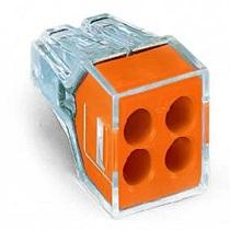 Wago Push Wire Connector 4 way - Orange (x50)