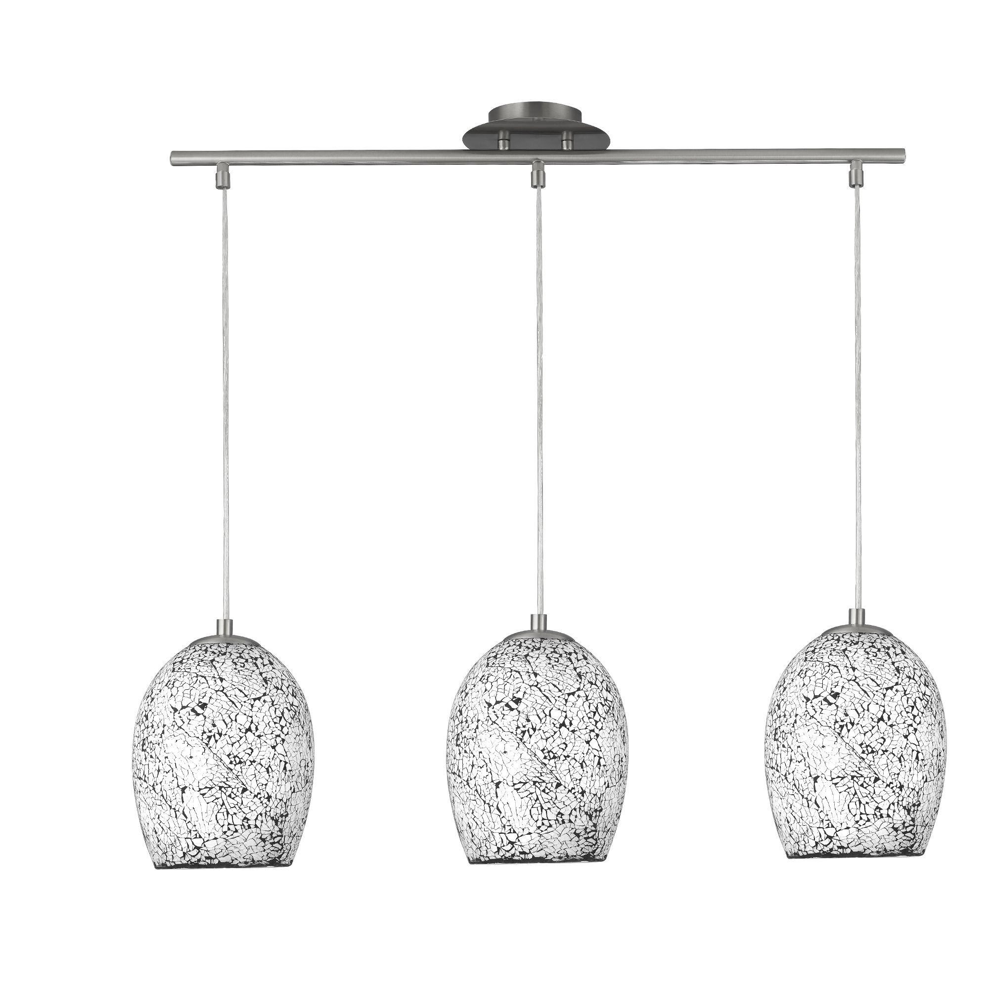 Searchlight 8069-3WH Pendant 3 Lgt Whi