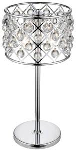 Royale 3 Light Crystal Chrome Table Lamp 32cm(w)
