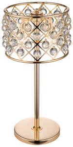 Royale 3 Light Crystal Gold Table Lamp 32cm(w)
