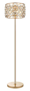Royale 4 Light Crystal Gold Floor Lamp 42cm(w)