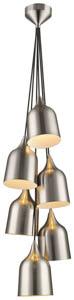Patricia 6 Light Pendant in Satin Nickel 6x60W E27 30cm(w)
