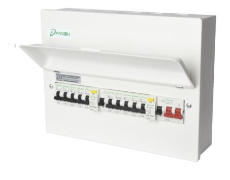 Danson Elegance High Integrity Consumer Unit (100A Switch; (x2) 63A 30mA RCDs; 3 Integral neutral bars; 16 MCBs