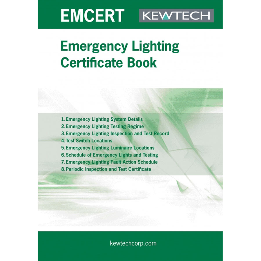 KEWTECH Emergency Lighting Certification Book