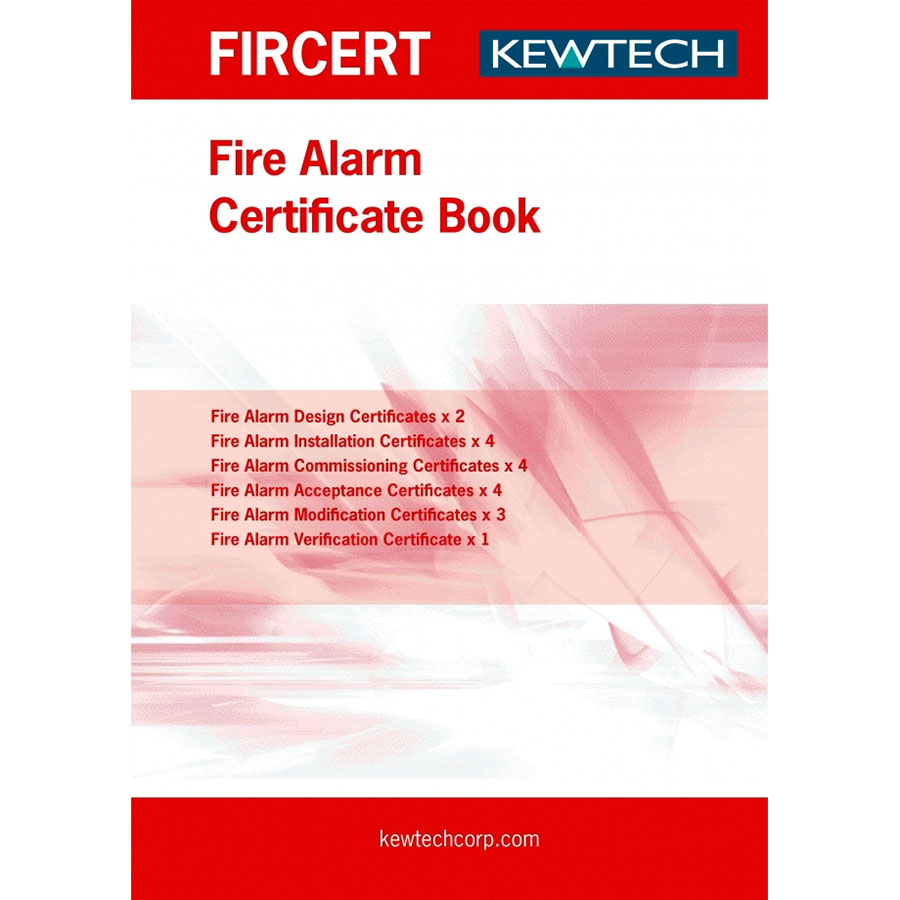 KEWTECH Fire alarm Certification Book
