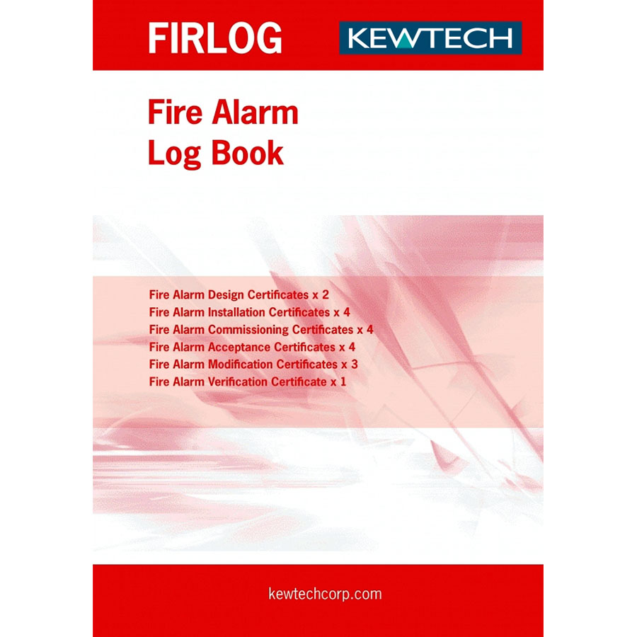 KEWTECH Fire Alarm Log Book