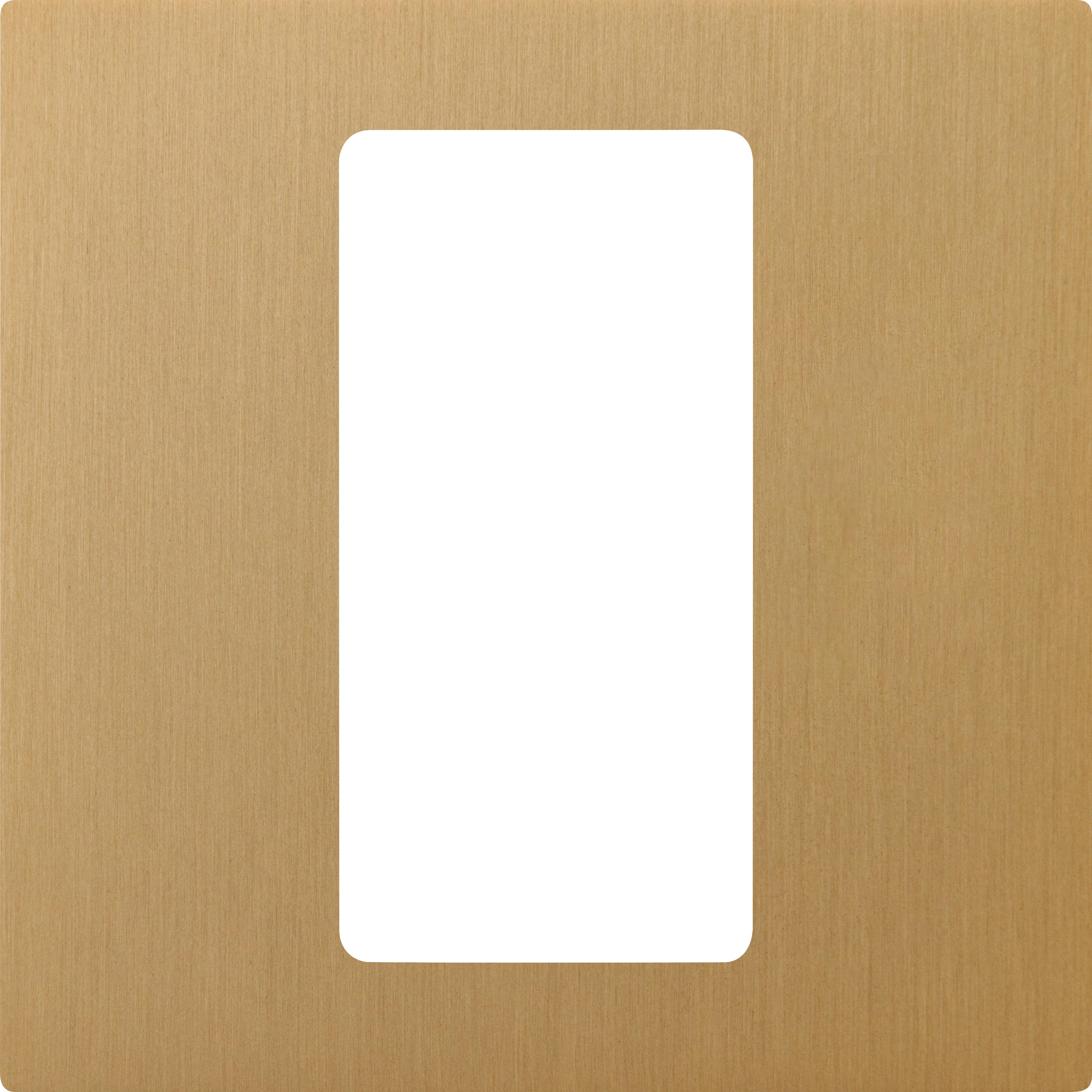 Lutron Pico 1-Column Faceplate (Satin Brass)