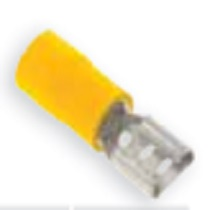 Pre-Insulated Terminals - Yellow Female Push- On Fully Insulated - 6.3 x 0.8mm