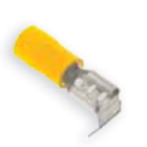 Pre-Insulated Terminals - Yellow Piggy Back Push - On Connector - 6.3 x 0.8mm