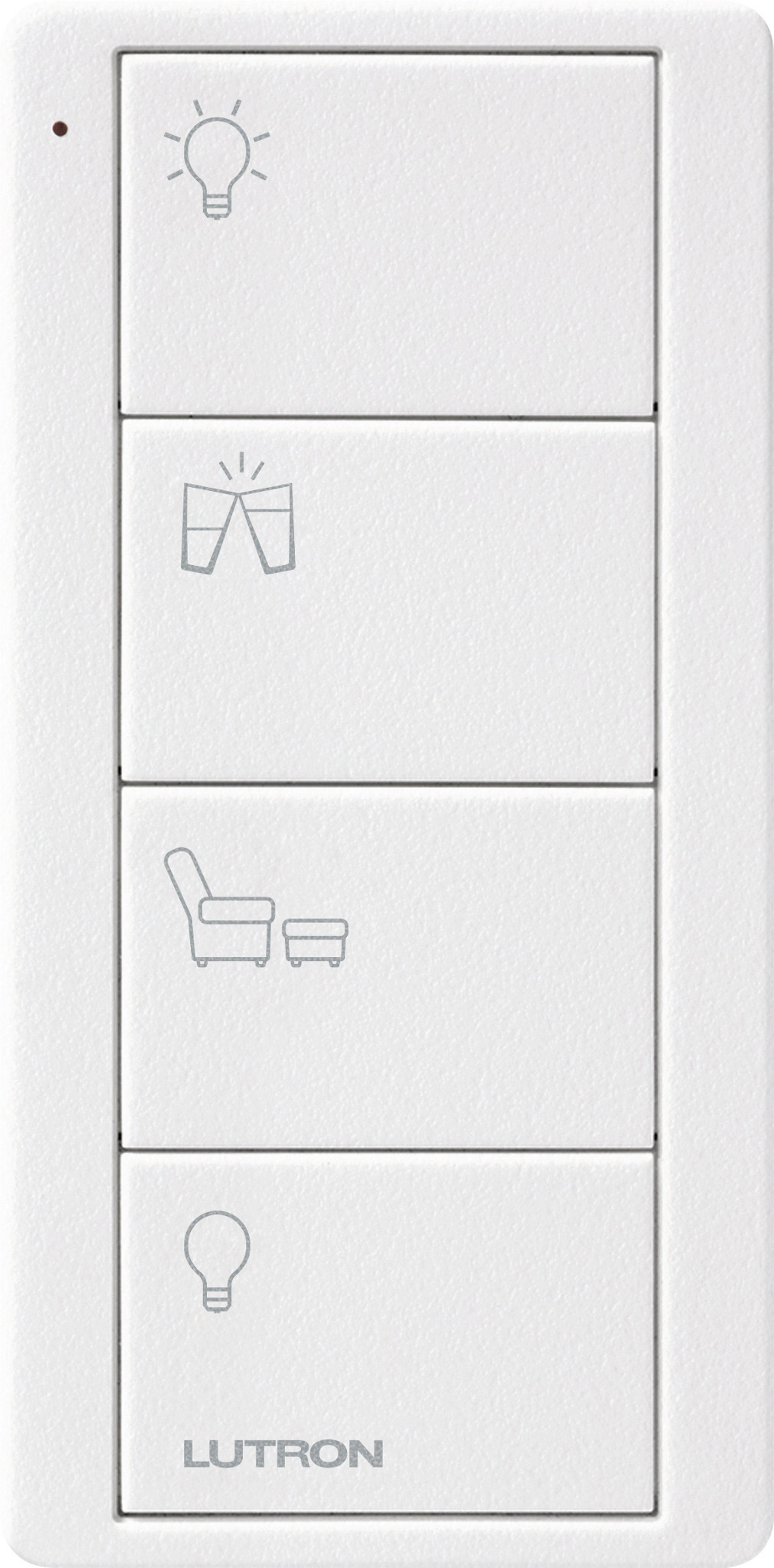 Lutron Pico RF 4 Button Control (Artic White) (Any Room Model)