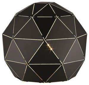 Orbital Table Lamp in Matt Black 1x25W E27 25cm(w)