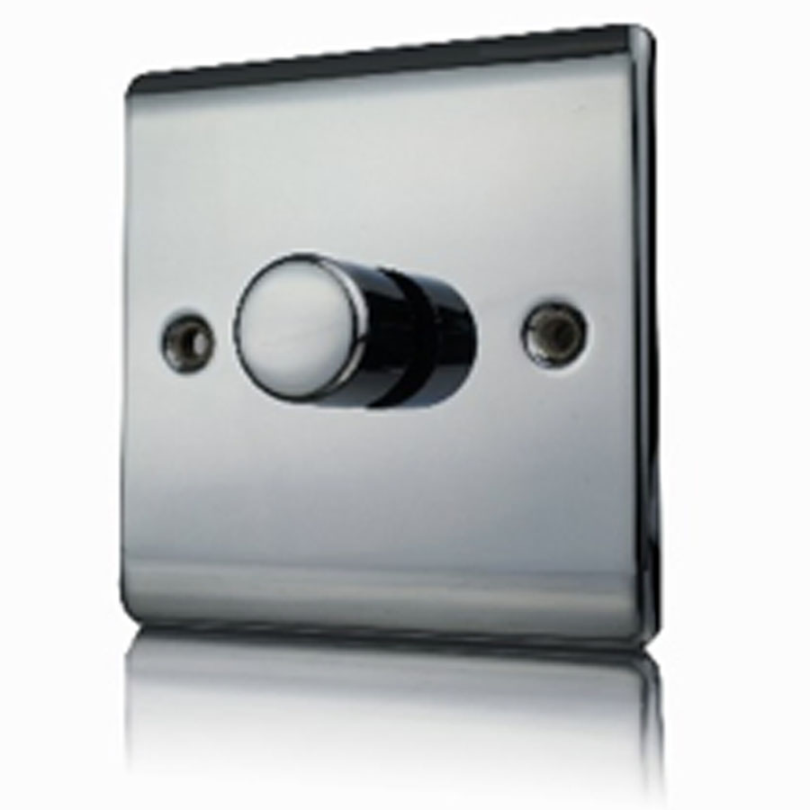 Premspec 1G 400W Push Dimmer Black Nickel