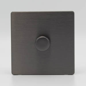Premspec 1G 400W Push Dimmer Screwless in Satin Nickel
