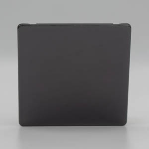 Premspec 1G Blank Plate Screwless In Black Nickel