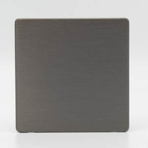 Premspec 1G Blank Plate Screwless in Satin Nickel