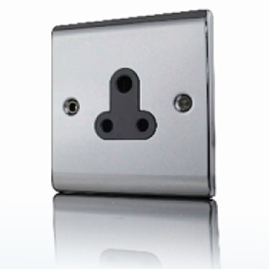 Premspec 5A UnSwitched Socket Black Nickel