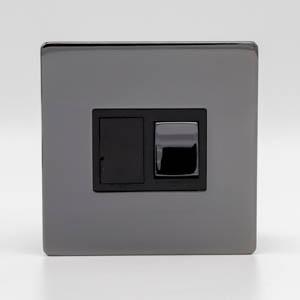 Premspec 13A Switched FCU Screwless In Black Nickel