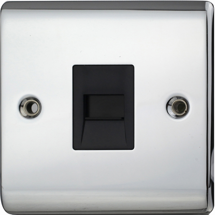 Premspec Master Phone Socket Polished Chrome