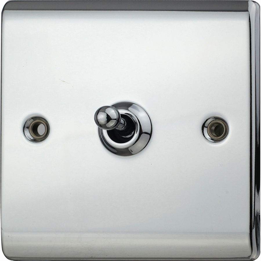 Premspec 10AX 1G 2W Toggle Switch Polished Chrome
