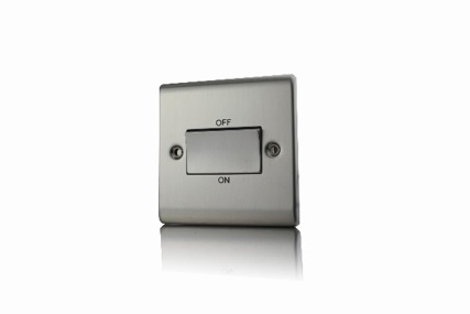 Premspec TP Fan Isolator Switch Satin Steel