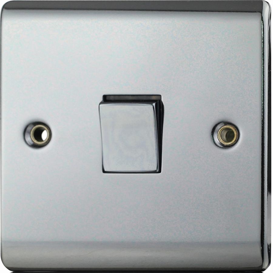 Premspec 1G Intermediate Switch Black Nickel Screwless