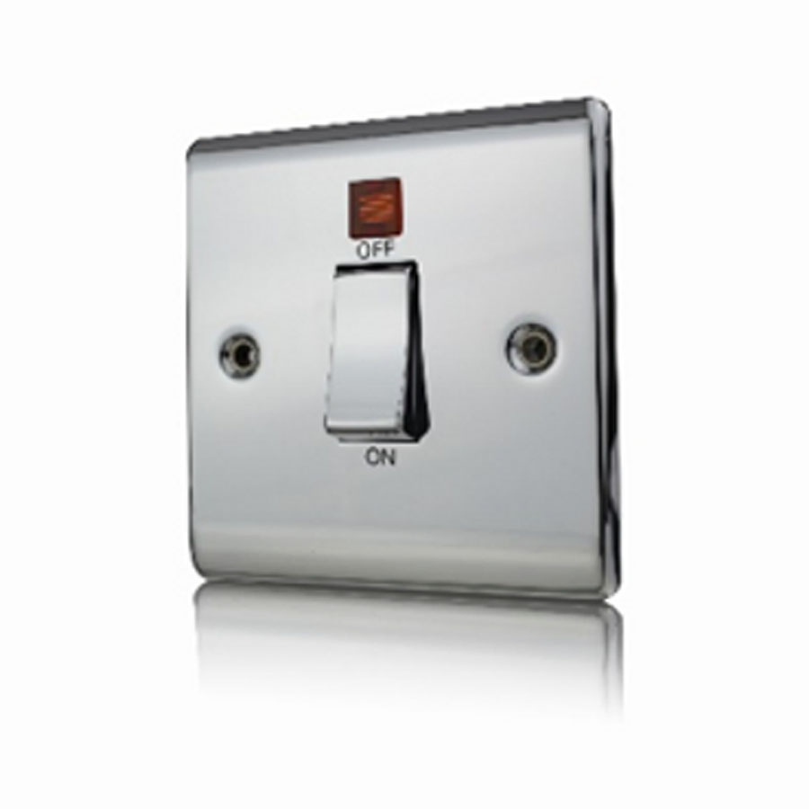 Premspec 45A DP 1G Switch + NEON Polished Chrome