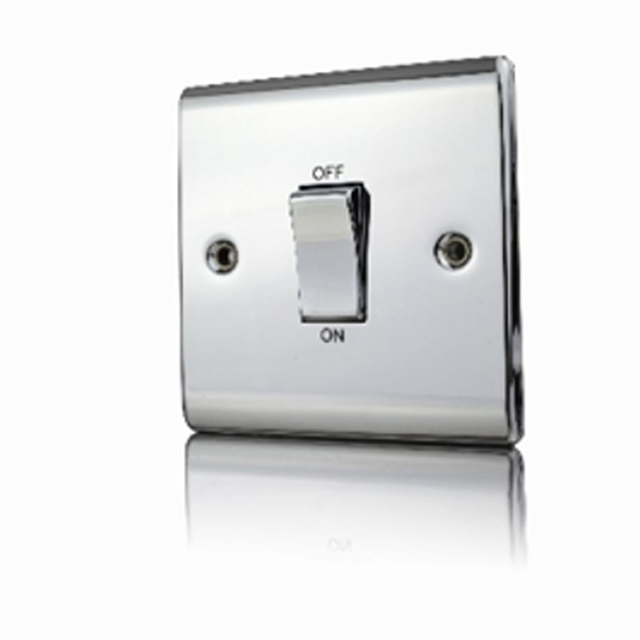 Premspec 45A DP 1G Switch Polished Chrome